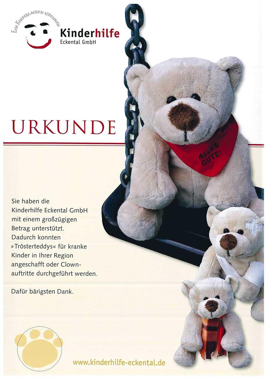 """""""Trösterteddys"""" für Rettungsfahrzeuge und Kinderstationen"""