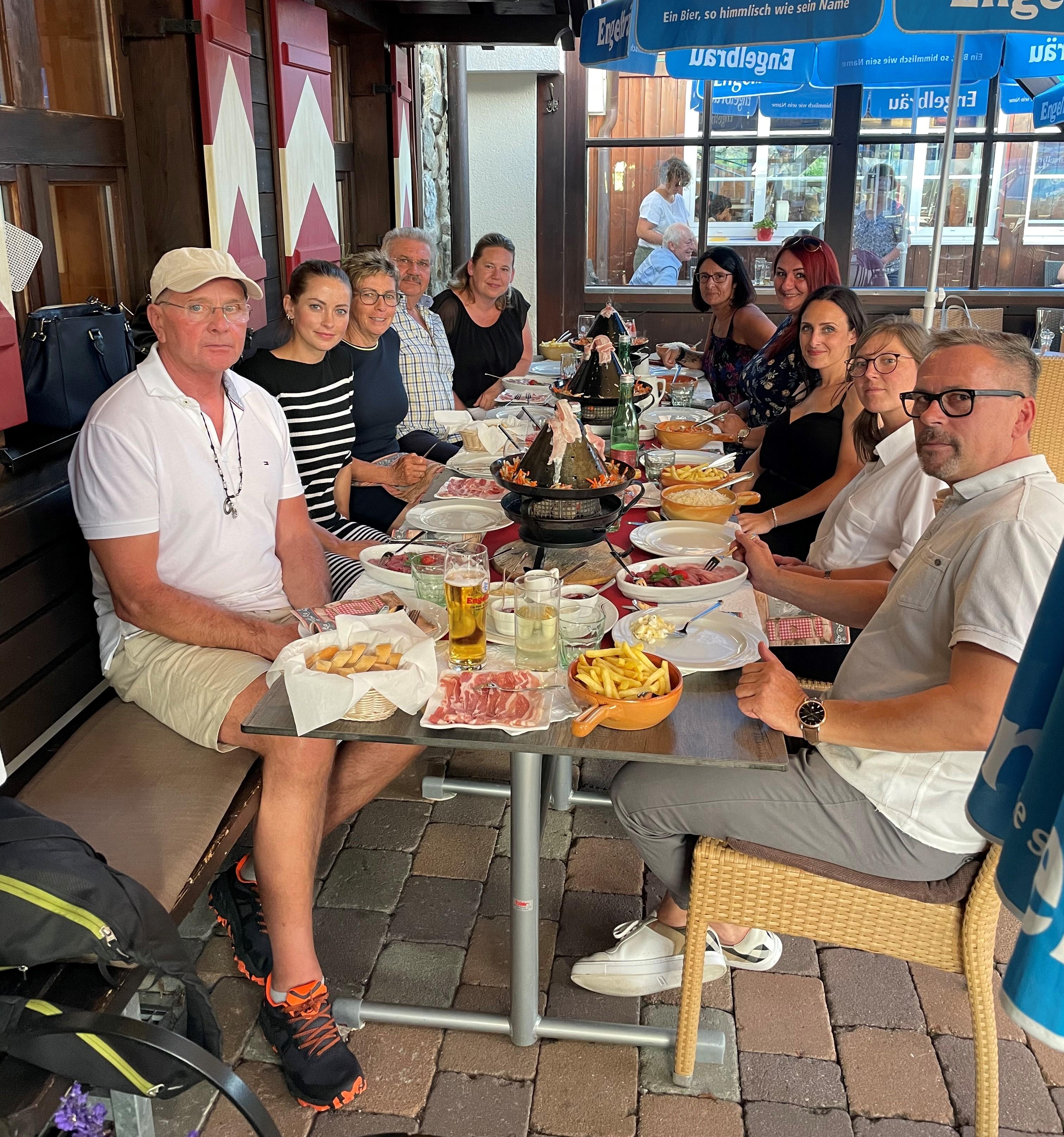 Tirolerhut-Essen auf der Schrofen-Hütte
